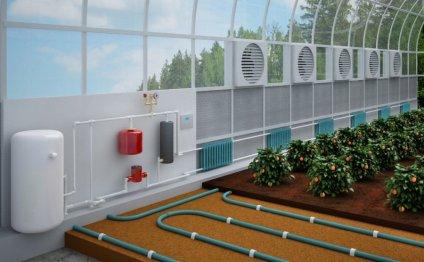 Воздушное отопление теплицы